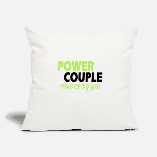 Partnership Pillow Cases - Power Couple - Couple Design - Pillowcase 17,3'' x 17,3'' (45 x 45 cm) natural white