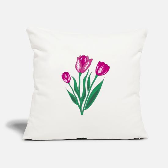 Love Pillow Cases - tulip - Pillowcase 17,3'' x 17,3'' (45 x 45 cm) natural white