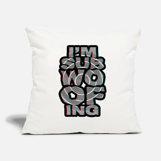 Bass Pillow Cases - I'm subwoofing 3D - Pillowcase 17,3'' x 17,3'' (45 x 45 cm) natural white