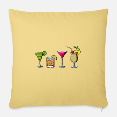 Long Drinks Cocktails long drinks drinking drunk drinking party - Pillowcase 17,3'' x 17,3'' (45 x 45 cm)