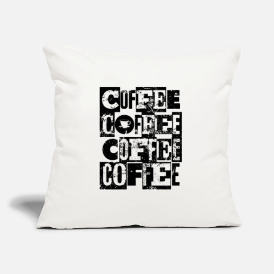 For Dad Pillow Cases - Coffee Coffee Coffee - Pillowcase 17,3'' x 17,3'' (45 x 45 cm) natural white