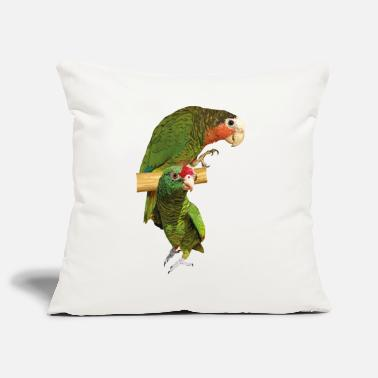 Throat Amazon parrots - Pillowcase 17,3'' x 17,3'' (45 x 45 cm)