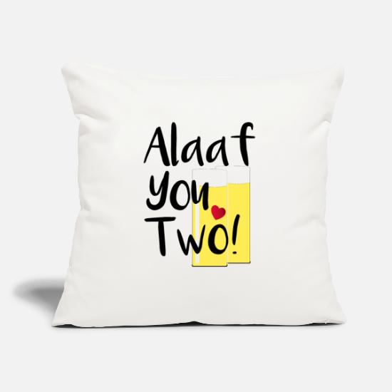 Carneval Pillow Cases - Alaaf you two - Pillowcase 17,3'' x 17,3'' (45 x 45 cm) natural white