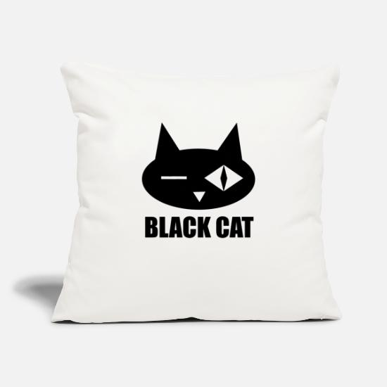 Wink Pillow Cases - Black cat superstition exam college school luck - Pillowcase 17,3'' x 17,3'' (45 x 45 cm) natural white