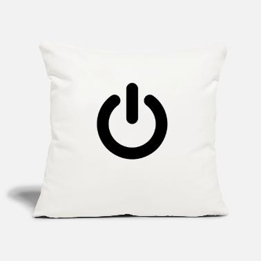 Power Power Button Black - Pillowcase 17,3'' x 17,3'' (45 x 45 cm)
