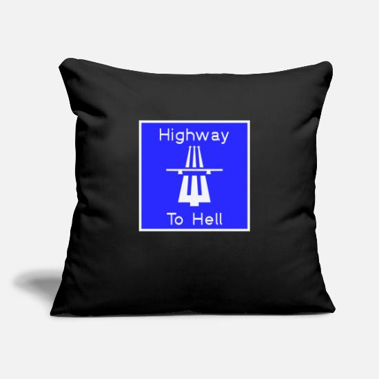 Devil Pillow Cases - Highway to hell - Pillowcase 17,3'' x 17,3'' (45 x 45 cm) black