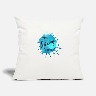 Spring Splash of color blue It's Spring Time - Pillowcase 17,3'' x 17,3'' (45 x 45 cm)