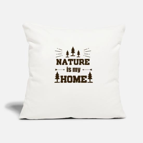 Gift Idea Pillow Cases - Nature is my home - Pillowcase 17,3'' x 17,3'' (45 x 45 cm) natural white