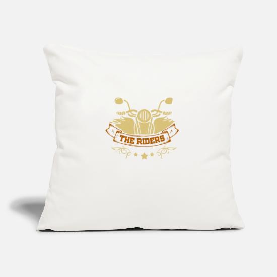 Motorcycle Pillow Cases - The Riders - Pillowcase 17,3'' x 17,3'' (45 x 45 cm) natural white