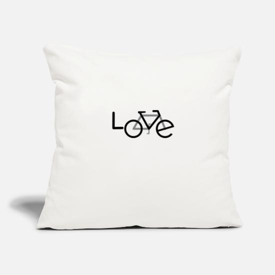 Love Pillow Cases - Bicycle cyclist Hobby passion - Pillowcase 17,3'' x 17,3'' (45 x 45 cm) natural white