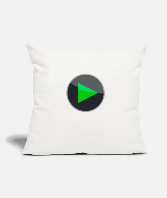 Play Button Pillow Cases - Play Button - Pillowcase 17,3'' x 17,3'' (45 x 45 cm) natural white