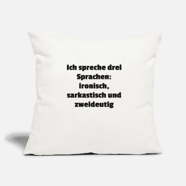 Languages languages - Pillowcase 17,3'' x 17,3'' (45 x 45 cm)