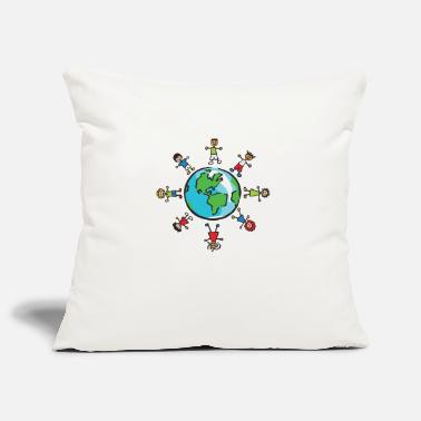 Population World Population Day 2018 Earth Population Globe - Pillowcase 17,3'' x 17,3'' (45 x 45 cm)
