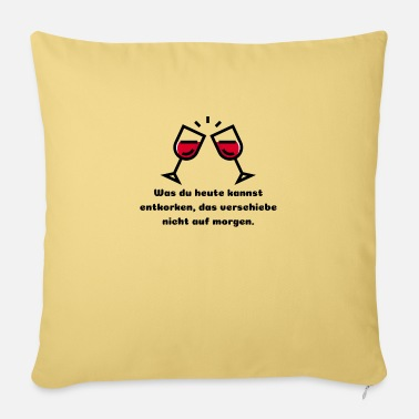 Wine Wine drinker wine gift idea - Pillowcase 17,3'' x 17,3'' (45 x 45 cm)