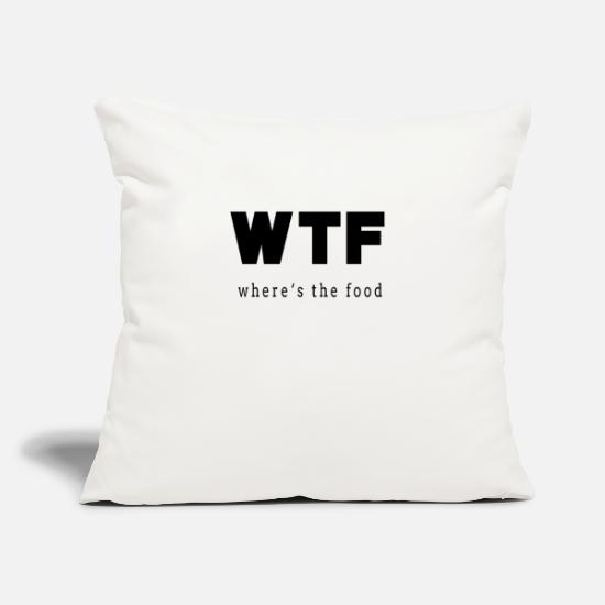 Birthday Pillow Cases - Where is the food - Pillowcase 17,3'' x 17,3'' (45 x 45 cm) natural white