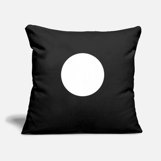 Ball Pillow Cases - circle - Pillowcase 17,3'' x 17,3'' (45 x 45 cm) black