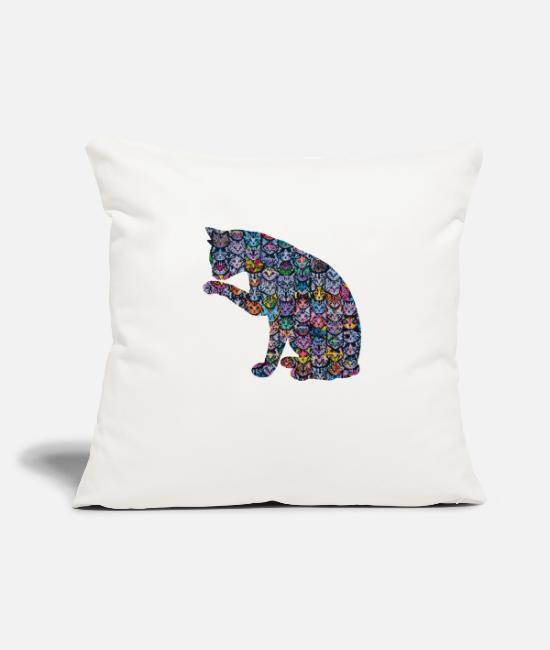 Cat Lady Pillow Cases - Cats in a Cat - Pillowcase 17,3'' x 17,3'' (45 x 45 cm) natural white