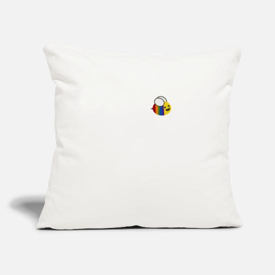 Rainbow Pillow Cases - pride bee - Pillowcase 17,3'' x 17,3'' (45 x 45 cm) natural white