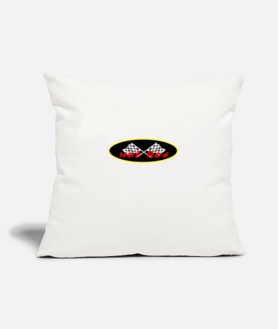 Heart Pillow Cases - Hot Rod - Pillowcase 17,3'' x 17,3'' (45 x 45 cm) natural white