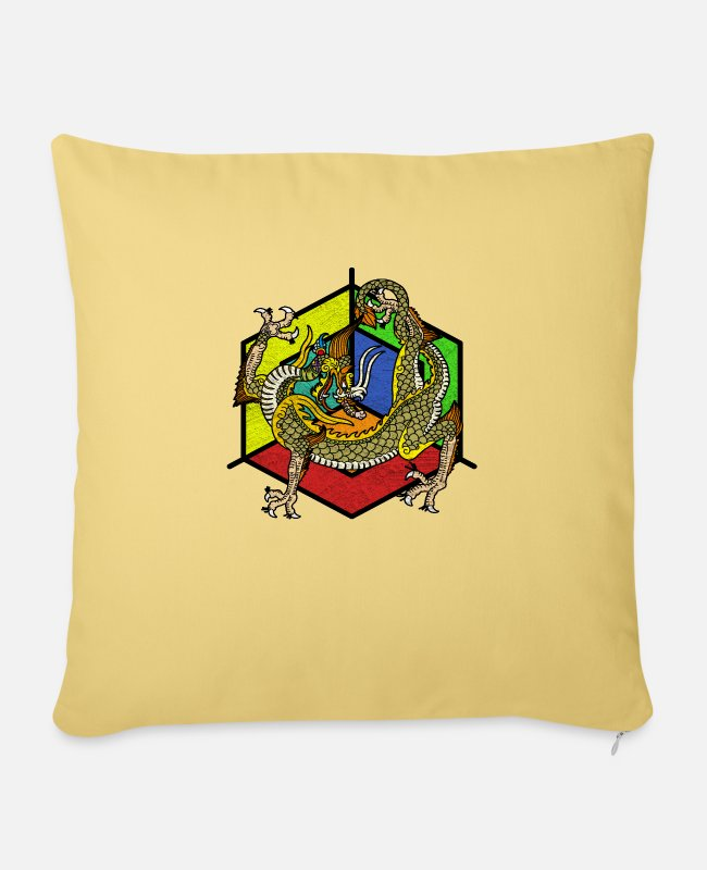 Fairy Tale Figure Pillow Cases - mythical creatures - Pillowcase 17,3'' x 17,3'' (45 x 45 cm) washed yellow