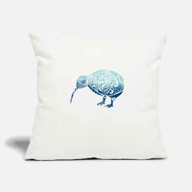 Maori Maori Kiwi Bird Blue - Gift idea - Pillowcase 17,3'' x 17,3'' (45 x 45 cm)