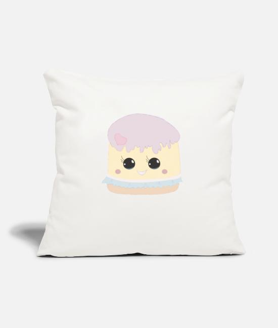 Beady Eyes Pillow Cases - Sweet Heart Cake with Glubschaugen gift - Pillowcase 17,3'' x 17,3'' (45 x 45 cm) natural white