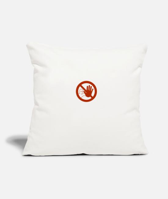 Careful Pillow Cases - Caution sign - Pillowcase 17,3'' x 17,3'' (45 x 45 cm) natural white
