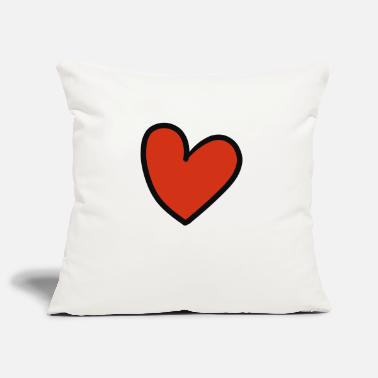 Crook crooked heart - Pillowcase 17,3'' x 17,3'' (45 x 45 cm)