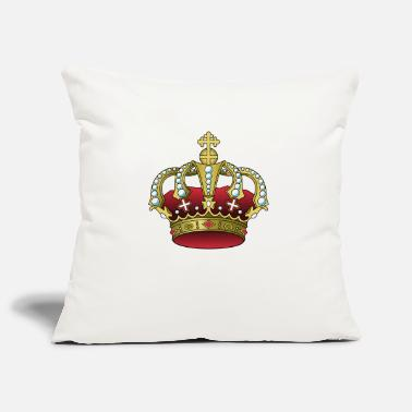 Crown RED & GOLD - Pillowcase 17,3'' x 17,3'' (45 x 45 cm)