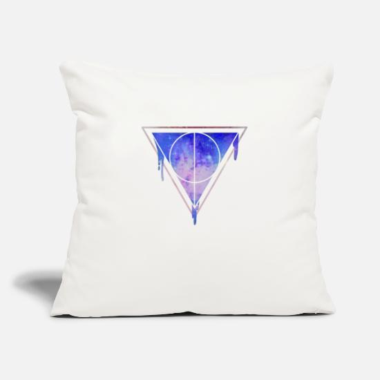 Space Ship Pillow Cases - Space triangle - Pillowcase 17,3'' x 17,3'' (45 x 45 cm) natural white