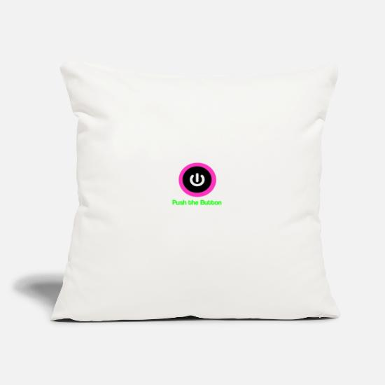 Cool Pillow Cases - Push the button - Pillowcase 17,3'' x 17,3'' (45 x 45 cm) natural white