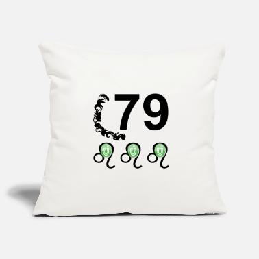 Lucky Number 79 years lucky number Happy birthday - Pillowcase 17,3'' x 17,3'' (45 x 45 cm)