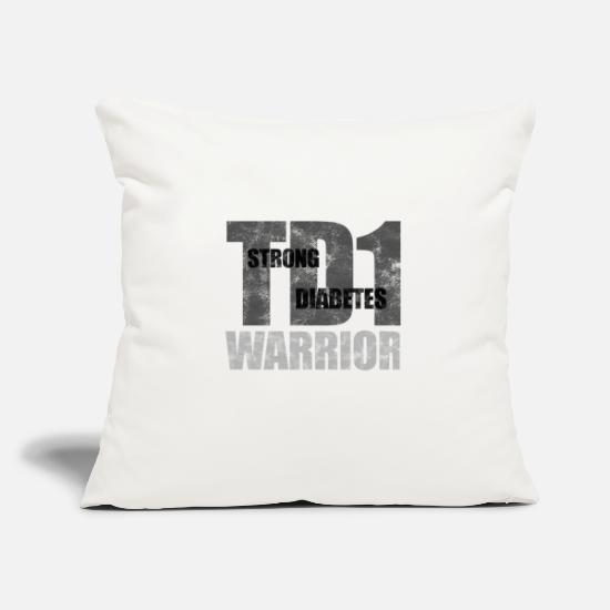 Strong Pillow Cases - Strong Diabetes TD 1 Warrior insulin pump gift - Pillowcase 17,3'' x 17,3'' (45 x 45 cm) natural white