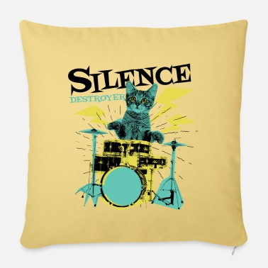 Guitar Lessons Drummer gift funny drummer outfit - Pillowcase 17,3'' x 17,3'' (45 x 45 cm)