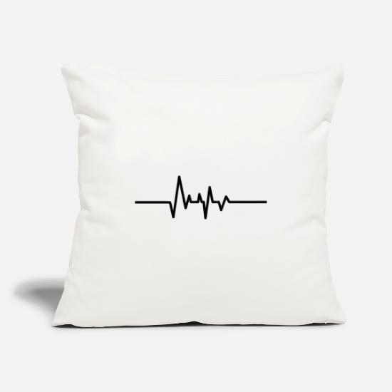 Birthday Pillow Cases - Heartbeat heartbeat heart rate music gift - Pillowcase 17,3'' x 17,3'' (45 x 45 cm) natural white