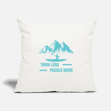 Surfing Think less paddle more surf windsurfing gift - Pillowcase 17,3'' x 17,3'' (45 x 45 cm)