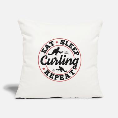 Caballero Curling Sayings Memes Funny Funny Gift - Funda de cojín, 44 x 44 cm
