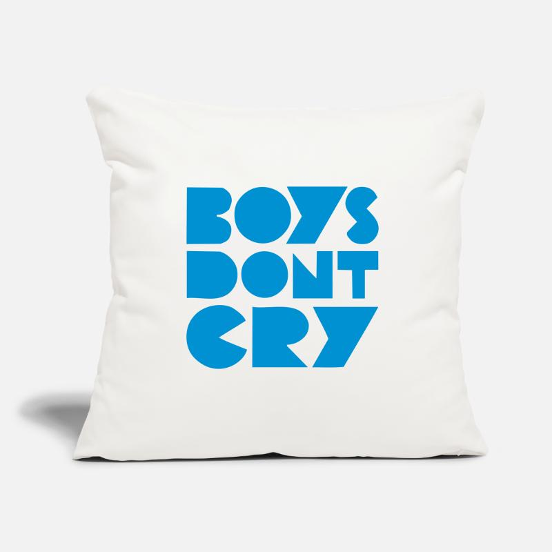 80s Fundas de cojín - BOYS DON'T CRY - Funda de cojín blanco natural