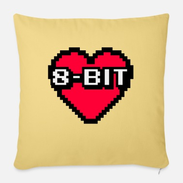 8 Bit 8-bit heart - I love 8-bit - Pillowcase 17,3'' x 17,3'' (45 x 45 cm)