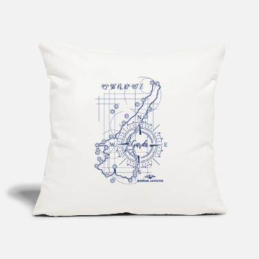 Garda Lakers compass map - Pillowcase 17,3'' x 17,3'' (45 x 45 cm)