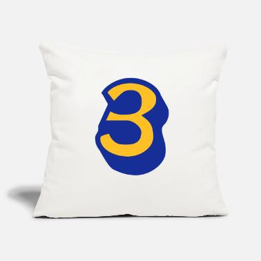 Lucky Number ★Cool Number Three 3-Best Jersey Uniform Number★ - Pillowcase 17,3'' x 17,3'' (45 x 45 cm)