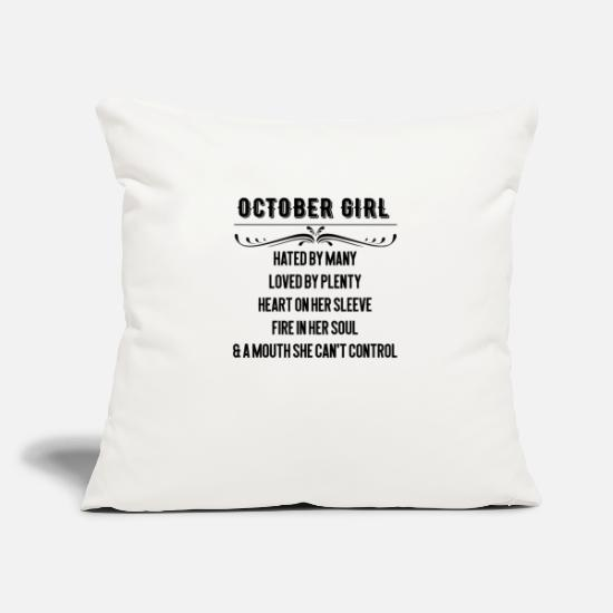 Heart Pillow Cases - October Girll - Pillowcase 17,3'' x 17,3'' (45 x 45 cm) natural white