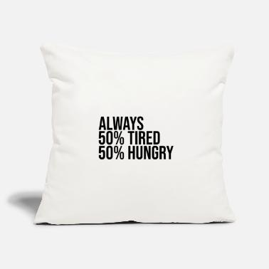 Morning People Tired and hungry - Pillowcase 17,3'' x 17,3'' (45 x 45 cm)
