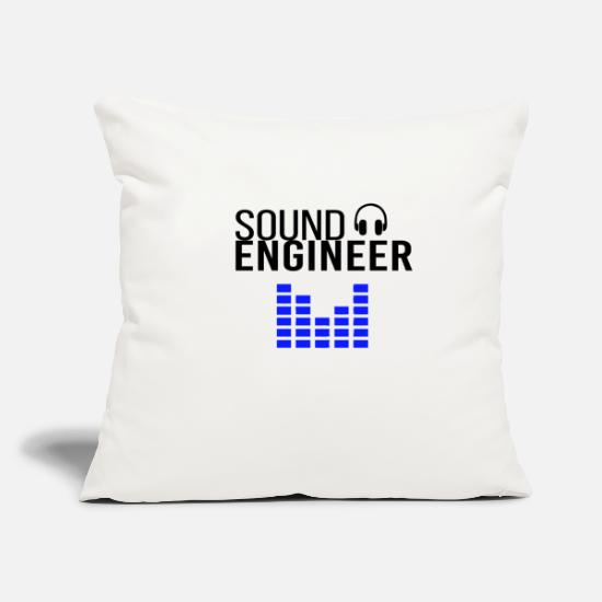 Gift Idea Pillow Cases - Sound Engineer sound engineer - Pillowcase 17,3'' x 17,3'' (45 x 45 cm) natural white
