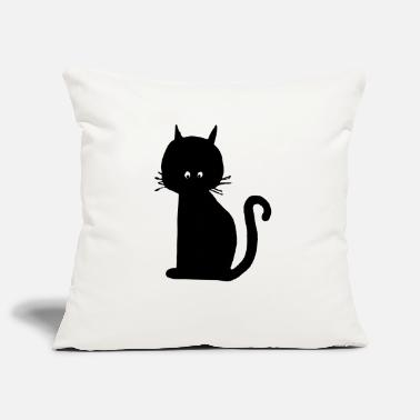 Cat Of The black cat - Pillowcase 17,3'' x 17,3'' (45 x 45 cm)