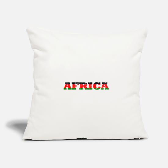 Continent Pillow Cases - Mama Africa continent safari holiday gift - Pillowcase 17,3'' x 17,3'' (45 x 45 cm) natural white