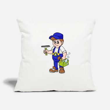 Cleaner Building cleaner Window cleaner - Pillowcase 17,3'' x 17,3'' (45 x 45 cm)