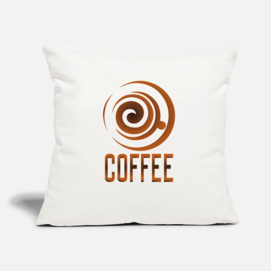 Gift Idea Pillow Cases - Coffee, coffee-coffee fans - Pillowcase 17,3'' x 17,3'' (45 x 45 cm) natural white