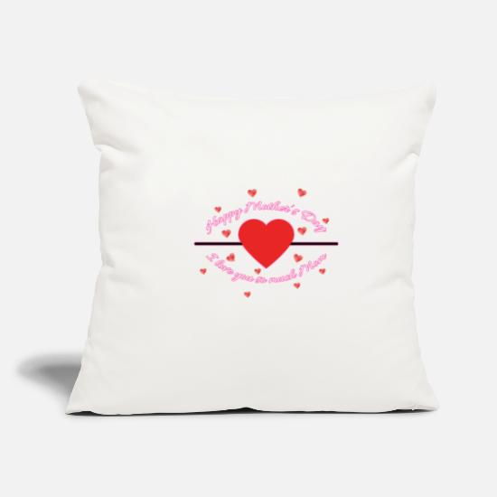 Birthday Pillow Cases - Mother's Day - Pillowcase 17,3'' x 17,3'' (45 x 45 cm) natural white