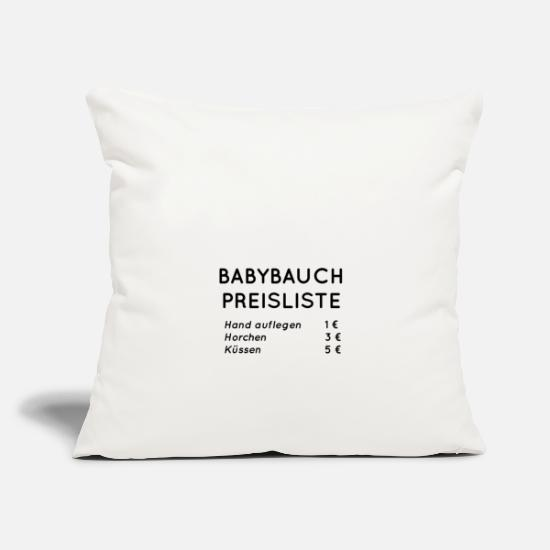 Gift Idea Pillow Cases - Baby Belly Price List - Pillowcase 17,3'' x 17,3'' (45 x 45 cm) natural white
